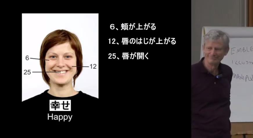 オコナーさんは「偽の幸せ」の表情の見本